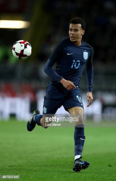 Bemidele Alli of England runs with the ball during the international friendly match between Germany and England at Signal Iduna Park on March 22 2017...