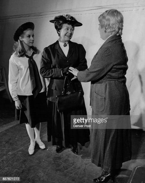 A bemused Kathy Tyler left as Katrin wonders how her mama played by Gwendolyn Van Derbur center can be so nice to her Uncle Chris' 'woman' Sunny...