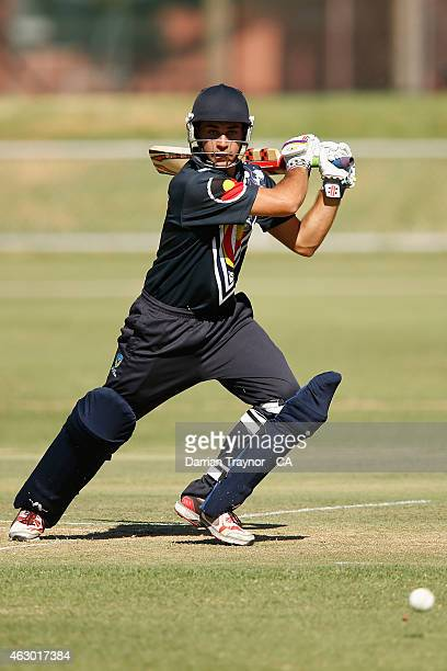 Ben Abbatangelo of Victoria bats during the 20415 Imparja Cup on February 9 2015 in Alice Springs Australia