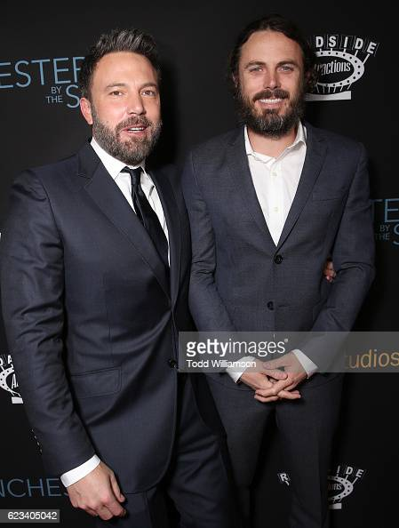 Ben Affleck and Casey Affleck attend the 'Manchester By The Sea' Los Angeles Premiere at AMPAS Samuel Goldwyn Theater on November 14 2016 in Beverly...