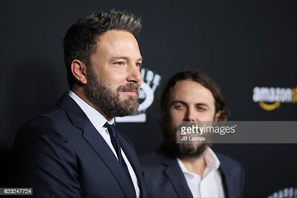 Ben Affleck and Casey Affleck attend the premiere of Amazon Studios' 'Manchester By The Sea' on November 14 2016 in Beverly Hills California