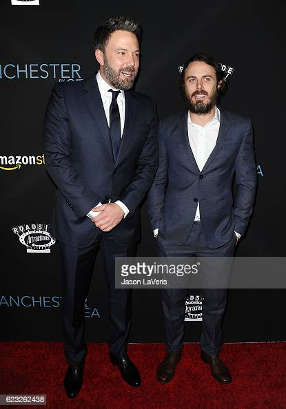 Ben Affleck and Casey Affleck attend the premiere of 'Manchester by the Sea' at Samuel Goldwyn Theater on November 14 2016 in Beverly Hills California