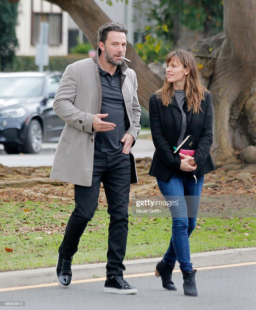 Ben Affleck and Jennifer Garner are seen in Los Angeles on December 11 2014 in Los Angeles California