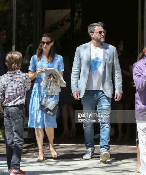 Ben Affleck and Jennifer Garner are seen on April 16 2017 in Los Angeles California