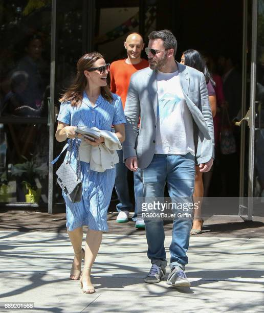 Ben Affleck and Jennifer Garner are seen on April 16 2017 in Los Angeles California