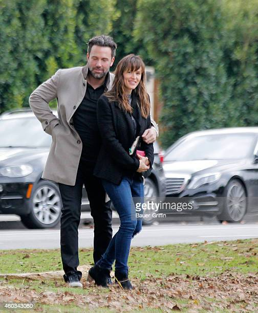 Ben Affleck and Jennifer Garner are seen on December 11 2014 in Los Angeles California