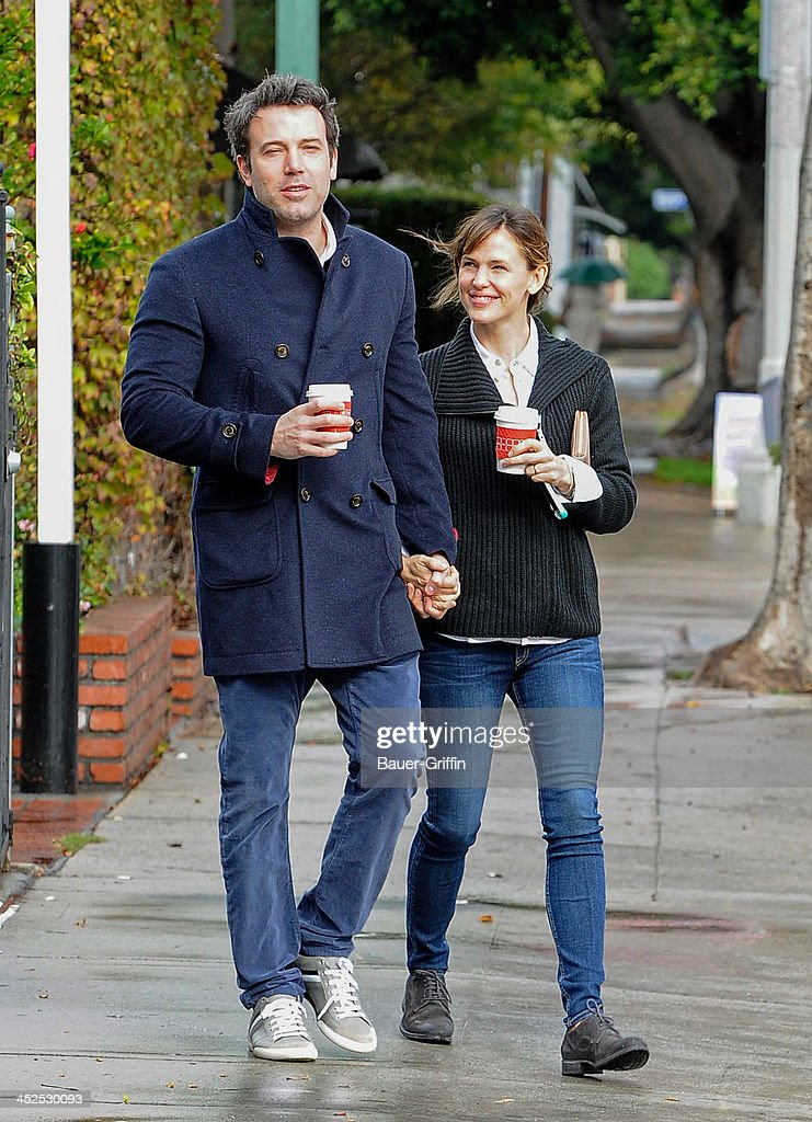 Ben Affleck and Jennifer Garner are seen on November 29 2013 in Los Angeles California