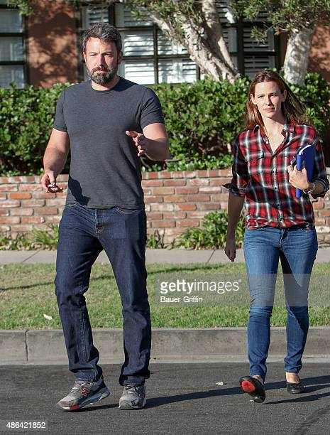 Ben Affleck and Jennifer Garner are seen on September 03 2015 in Los Angeles California