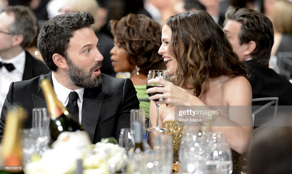 Ben Affleck and Jennifer Garner attend the 19th Annual Screen Actors Guild Awards at The Shrine Auditorium on January 27, 2013 in Los Angeles, California. (Photo by Kevin Mazur/WireImage) 23116_016_1209.jpg