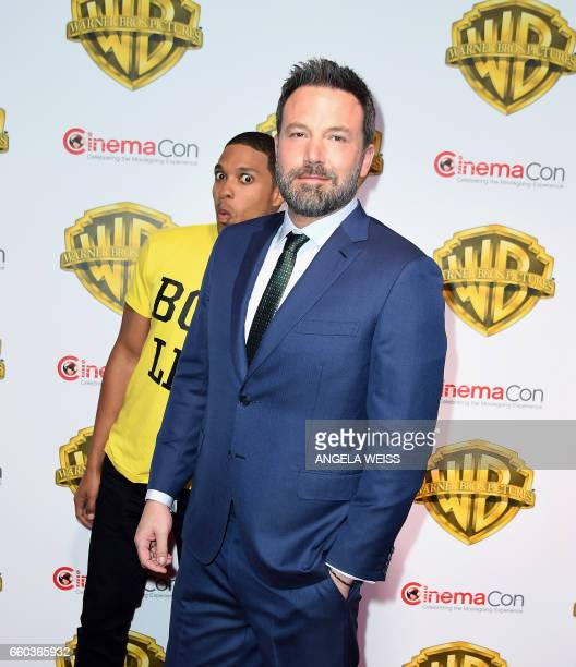 Ben Affleck and Ray Fisher arrive at CinemaCon 2017 Warner Bros Pictures Invites You to The Big Picture at The Colosseum at Caesars Palace during...