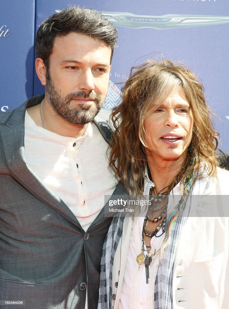 <a gi-track='captionPersonalityLinkClicked' href=/galleries/search?phrase=Ben+Affleck&family=editorial&specificpeople=201856 ng-click='$event.stopPropagation()'>Ben Affleck</a> (L) and <a gi-track='captionPersonalityLinkClicked' href=/galleries/search?phrase=Steven+Tyler+-+Musician&family=editorial&specificpeople=202080 ng-click='$event.stopPropagation()'>Steven Tyler</a> arrive at The John Varvatos 10th Annual Stuart House Benefit held on March 10, 2013 in Los Angeles, California.