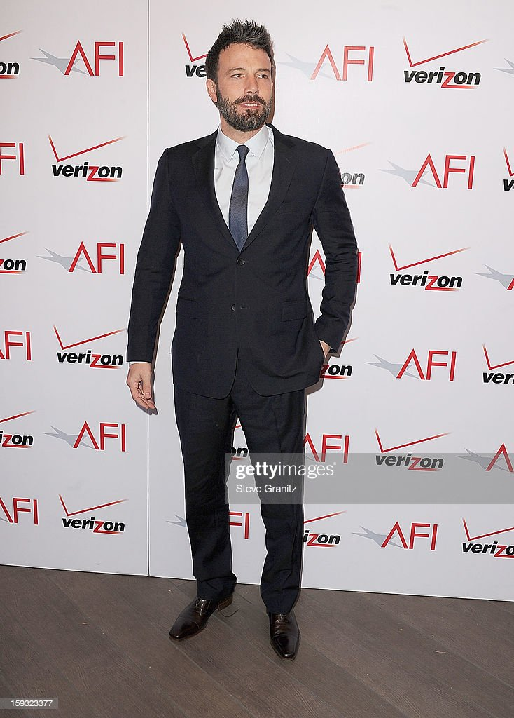 Ben Affleck arrive at the 2012 AFI Awards Luncheon at Four Seasons Hotel Los Angeles at Beverly Hills on January 11, 2013 in Beverly Hills, California.