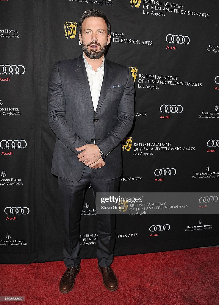 <a gi-track='captionPersonalityLinkClicked' href=/galleries/search?phrase=Ben+Affleck&family=editorial&specificpeople=201856 ng-click='$event.stopPropagation()'>Ben Affleck</a> arrives at the BAFTA Los Angeles 2013 Awards Season Tea Party at Four Seasons Hotel Los Angeles at Beverly Hills on January 12, 2013 in Beverly Hills, California.