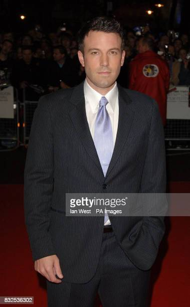 Ben Affleck arrives at the UK Premiere of Hollywoodland from the Odeon West End in central London