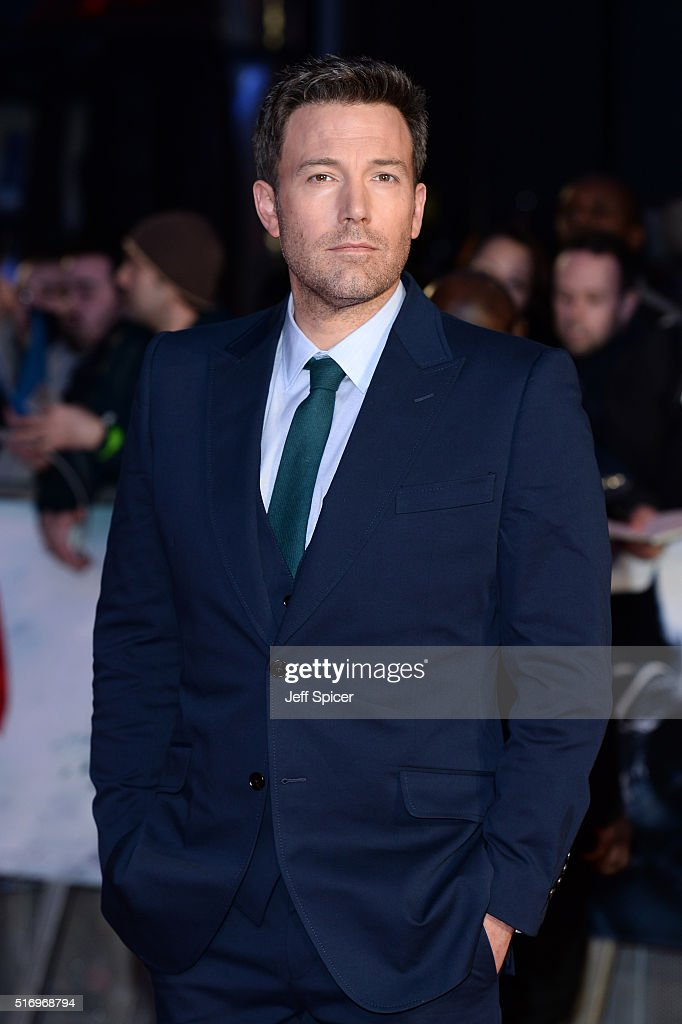 <a gi-track='captionPersonalityLinkClicked' href=/galleries/search?phrase=Ben+Affleck&family=editorial&specificpeople=201856 ng-click='$event.stopPropagation()'>Ben Affleck</a> arrives for the European Premiere of 'Batman V Superman: Dawn Of Justice' at Odeon Leicester Square on March 22, 2016 in London, England.