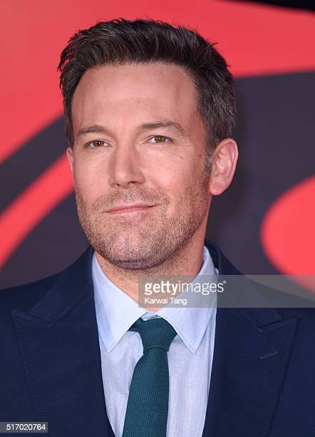 Ben Affleck arrives for the European Premiere of 'Batman V Superman Dawn Of Justice' at Odeon Leicester Square on March 22 2016 in London England