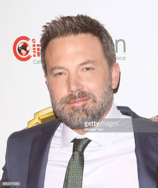 Ben Affleck attends the CinemaCon 2017 Warner Bros Pictures presentation held at The Colosseum at Caesars Palace during CinemaCon the official...