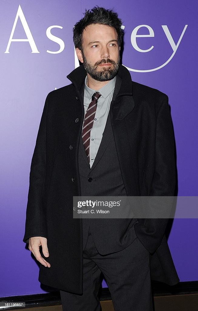 <a gi-track='captionPersonalityLinkClicked' href=/galleries/search?phrase=Ben+Affleck&family=editorial&specificpeople=201856 ng-click='$event.stopPropagation()'>Ben Affleck</a> attends the EE British Academy Film Awards nominees party at Asprey London on February 9, 2013 in London, England.