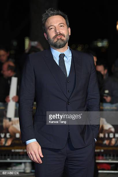 Ben Affleck attends the European Film Premiere of 'Live By Night' at The BFI Southbank on January 11 2017 in London United Kingdom