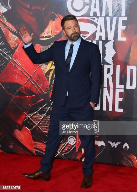 Ben Affleck attends the premiere of Warner Bros Pictures' 'Justice League' on November 13 2017 in Los Angeles California