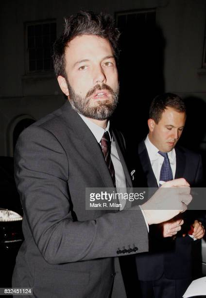 Ben Affleck departs the PreBafta Party at Annabel's Private Members Club on February 8 2013 in London England