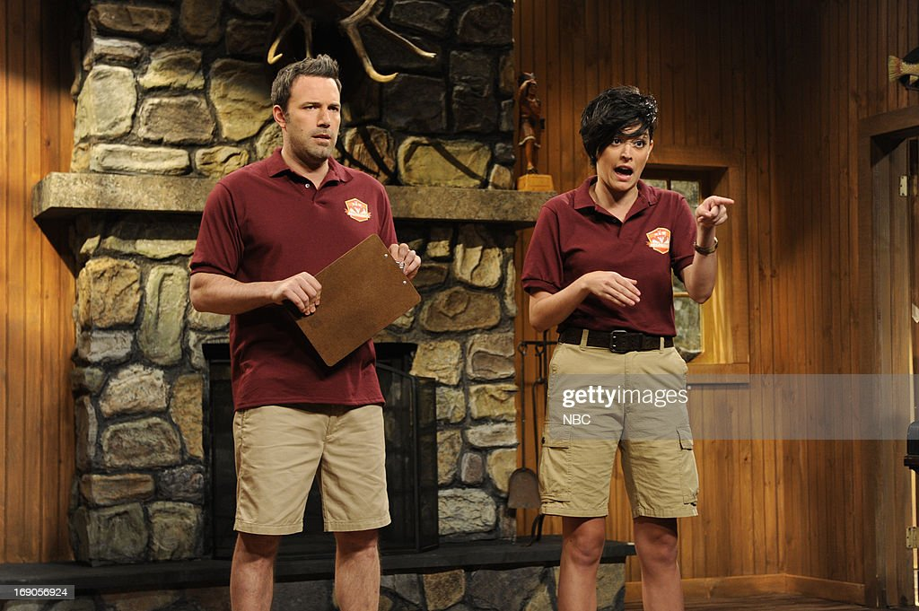 LIVE -- 'Ben Affleck' Episode 1641 -- Pictured: (l-r) Ben Affleck and Cecily Strong during a skit on May 18, 2013 --