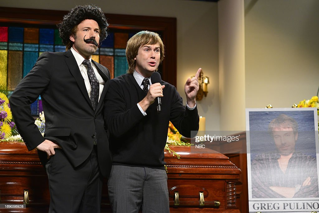 LIVE -- 'Ben Affleck' Episode 1641 -- Pictured: (l-r) Ben Affleck and Taran Killam during a skit on May 18, 2013 --
