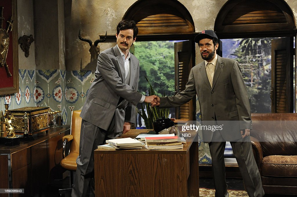 LIVE -- 'Ben Affleck' Episode 1641 -- Pictured: (l-r) Bill Hader and Fred Armisen during a skit on May 18, 2013 --