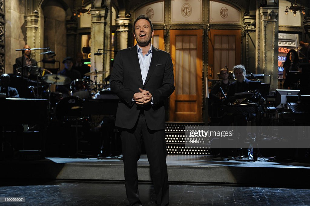 LIVE -- 'Ben Affleck' Episode 1641 -- Pictured: Host Ben Affleck during his monologue on May 18, 2013 --