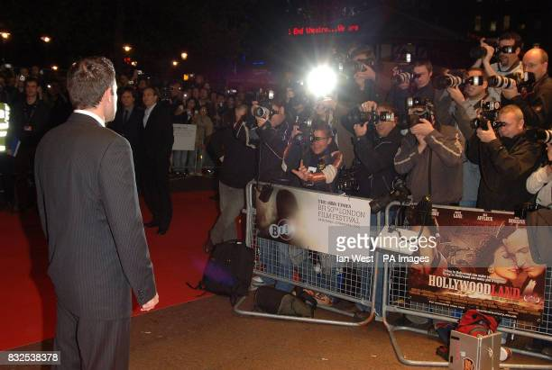 Ben Affleck is photographed at the UK premiere of Hollwoodland at the Odeon West End in central London