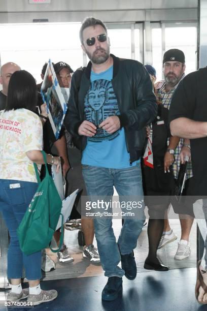 Ben Affleck is seen at JFK airport on August 22 2017 in New York City