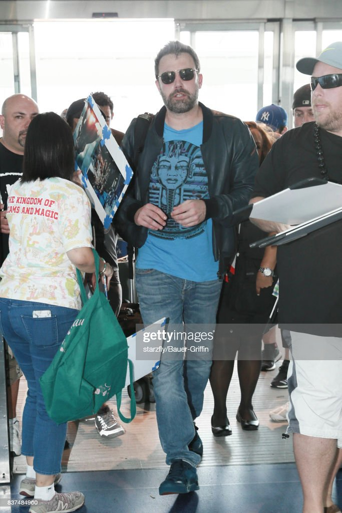 Ben Affleck is seen at JFK airport on August 22, 2017 in New York City.
