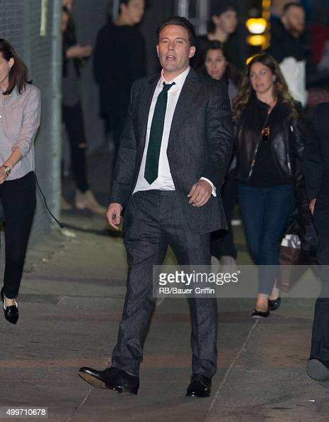Ben Affleck is seen at 'Jimmy Kimmel Live' on December 02 2015 in Los Angeles California