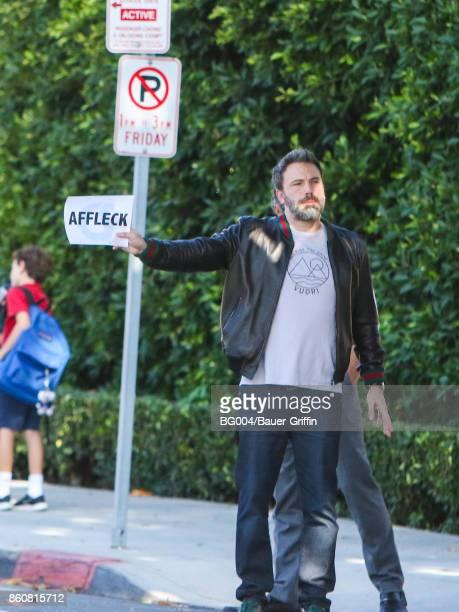 Ben Affleck is seen on October 12 2017 in Los Angeles California