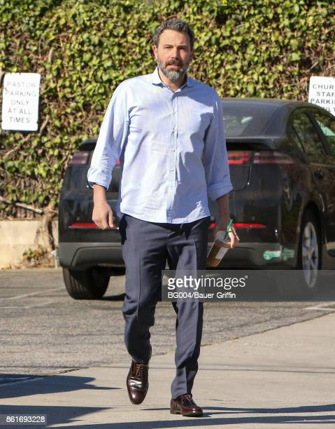 Ben Affleck is seen on October 15 2017 in Los Angeles California