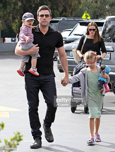 Ben Affleck Jennifer Garner Violet Affleck and Samuel Affleck are seen on August 11 2013 in Los Angeles California