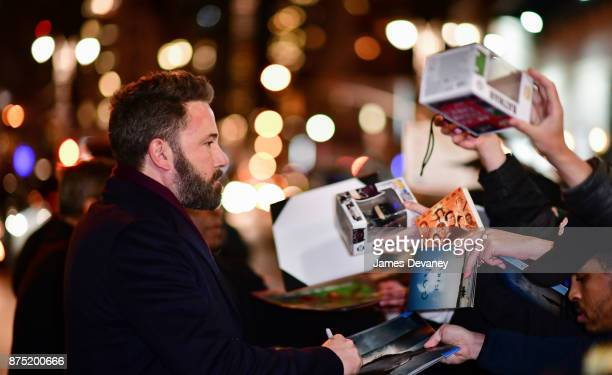 Ben Affleck leaves the 'The Late Show With Stephen Colbert' at the Ed Sullivan Theater on November 16 2017 in New York City