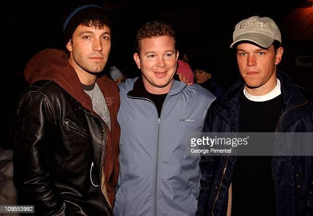 Ben Affleck Pete Jones Matt Damon during 2002 Sundance Film Festival 'Stolen Summer' Premiere at The Prospector Theater in Park City Utah United...