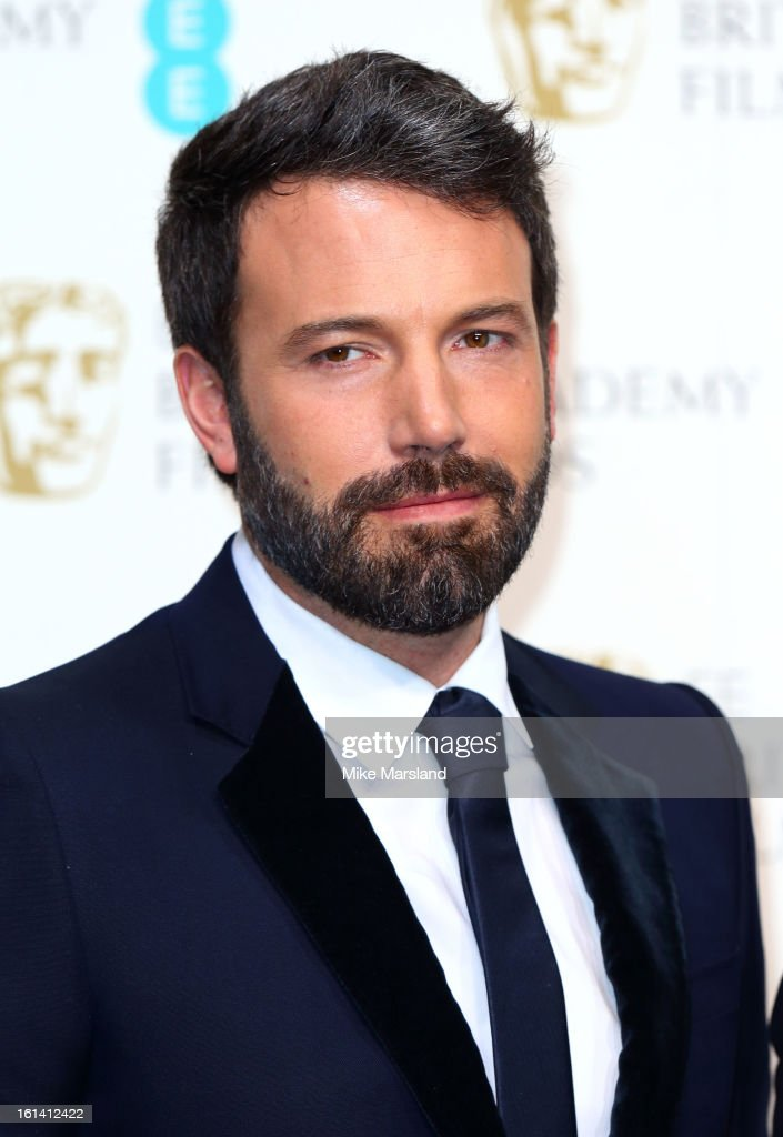 <a gi-track='captionPersonalityLinkClicked' href=/galleries/search?phrase=Ben+Affleck&family=editorial&specificpeople=201856 ng-click='$event.stopPropagation()'>Ben Affleck</a> poses in the Press Room at the EE British Academy Film Awards at The Royal Opera House on February 10, 2013 in London, England.