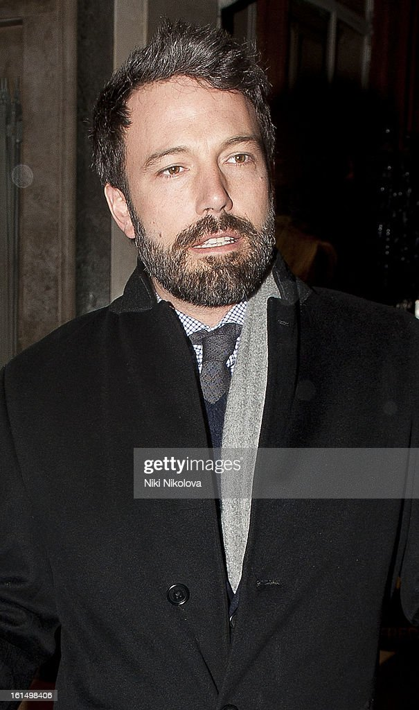 <a gi-track='captionPersonalityLinkClicked' href=/galleries/search?phrase=Ben+Affleck&family=editorial&specificpeople=201856 ng-click='$event.stopPropagation()'>Ben Affleck</a> sighting on February 11, 2013 in London, England.