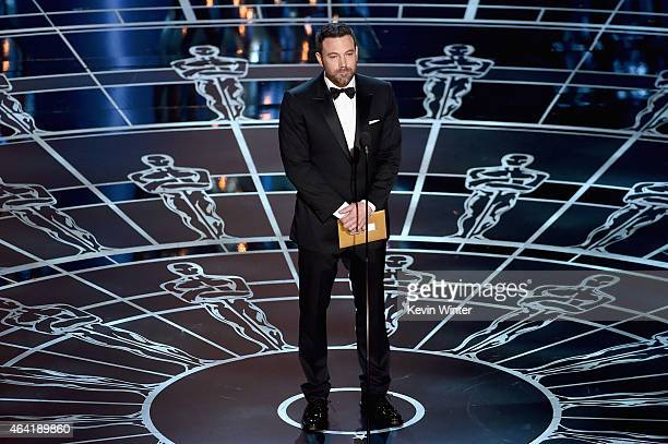Ben Affleck speaks onstage during the 87th Annual Academy Awards at Dolby Theatre on February 22 2015 in Hollywood California