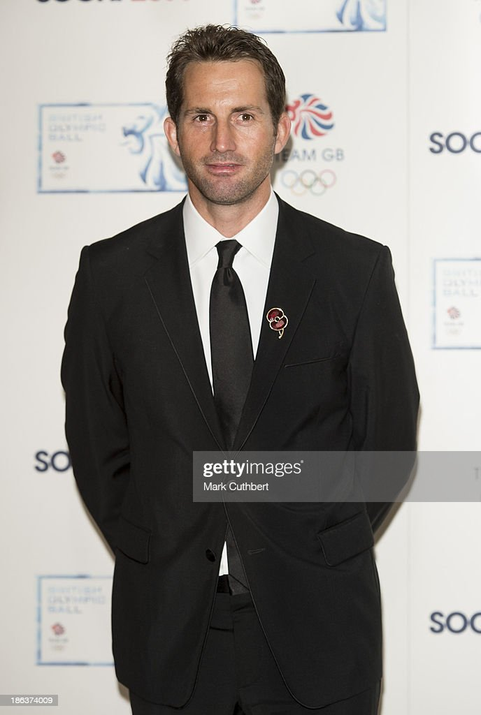 Ben Ainslie attends the British Olympic Ball at The Dorchester on October 30, 2013 in London, England.