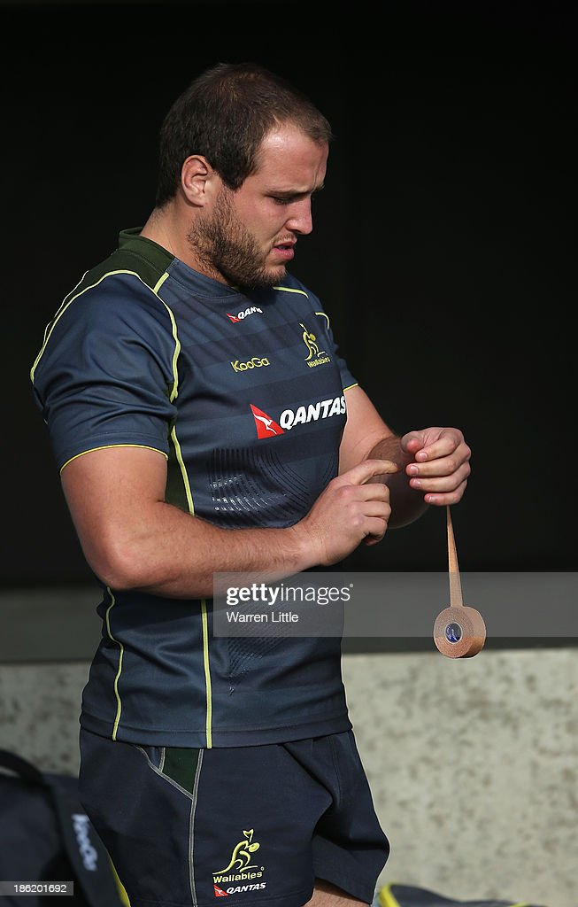 Ben Alexander of Australia prepares for a training session at Latymer School on October 29, 2013 in London, England.