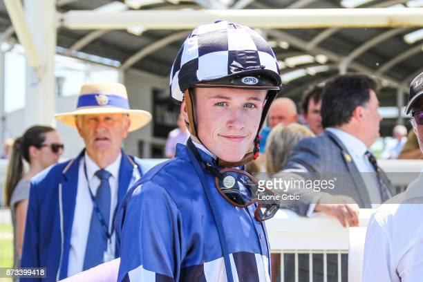 Ben Allen after winning the Evergreen Turf Plate at Mornington Racecourse on November 13 2017 in Mornington Australia