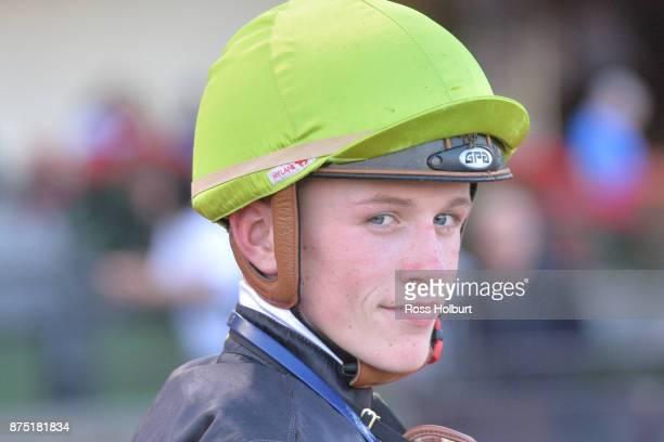 Ben Allen after winning the Xmas at officialmemorabiliacomau Handicap at Moonee Valley Racecourse on November 17 2017 in Moonee Ponds Australia