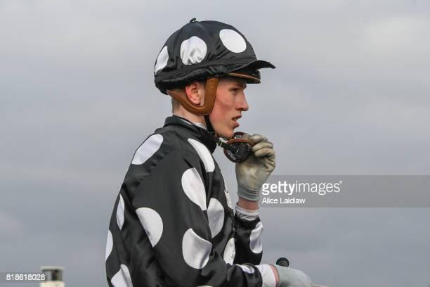 Ben Allen returns to scale after winning the Chef's Hat Handicap at Ladbrokes Park Hillside Racecourse on July 19 2017 in Springvale Australia