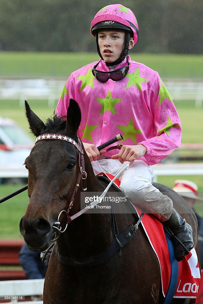 Ben Allen riding Kenjorwood after winning Race 8 during Melbourne Racing at Sandown Lakeside on May 28, 2016 in Melbourne, Australia.