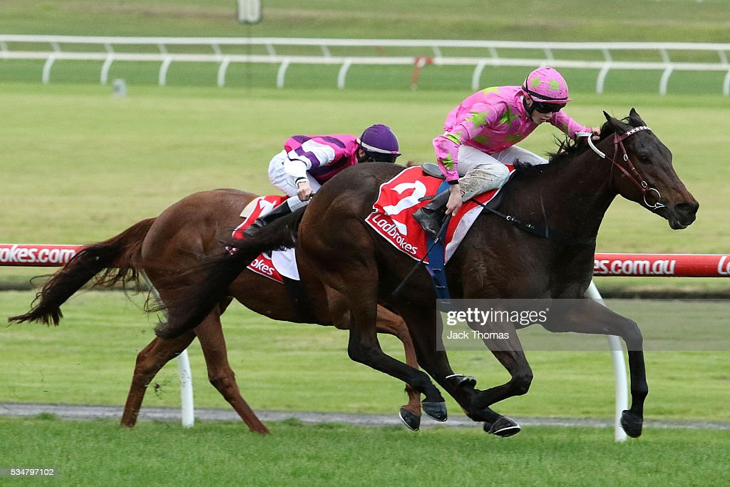 Ben Allen riding Kenjorwood wins Race 8 during Melbourne Racing at Sandown Lakeside on May 28, 2016 in Melbourne, Australia.