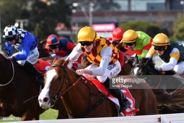 Ben Allen riding Thelburg wins Race 4 during Melbourne Racing at Caulfield Racecourse on May 13 2017 in Melbourne Australia
