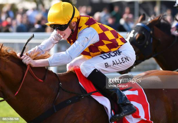 Ben Allen riding Thelburg wins Race4 during Melbourne Racing at Caulfield Racecourse on May 13 2017 in Melbourne Australia